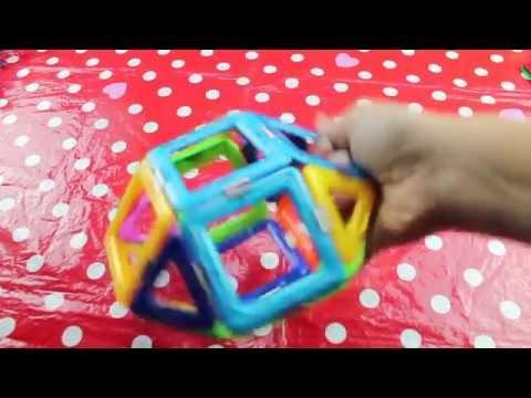 Costruzioni Magnetiche Video Giocattolo per Bambini di Apertura e Prova del Gioco (66 pcs)