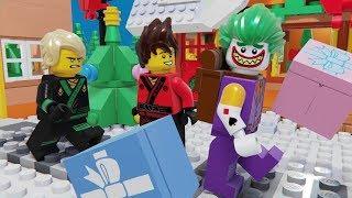 Lego Ninjago Christmas Joker Robbery and Brick Building House Animation Cartoon for Kids