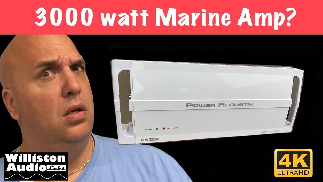 Power Acoustik MA43000D Marine 4 ch Class D Amp 3000 Watts