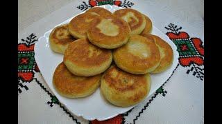 Пирожки с картошкой жареные постные молдавские   очень простая и необычная лепка!