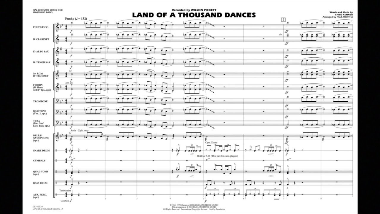 Land of a Thousand Dances by Chris Kenner/arr  Paul Murtha