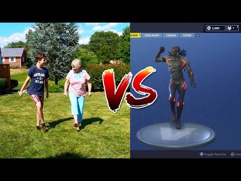 THE FORTNITE DANCE CHALLENGE WITH MY GRANDMA!