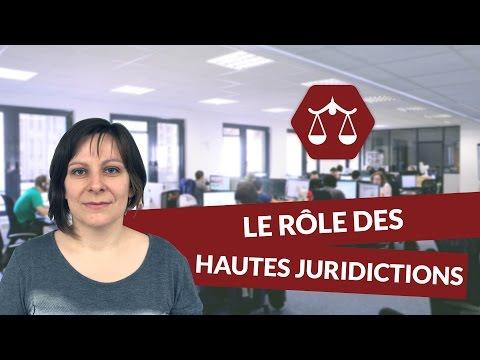Le rôle des hautes juridictions - Droit - digiSchool