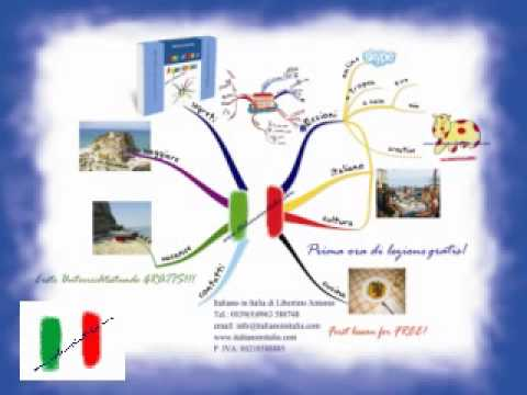 Map Of Italy In English.Buzan S Mind Maps To Learn Italian Beginner Course For English Speakers