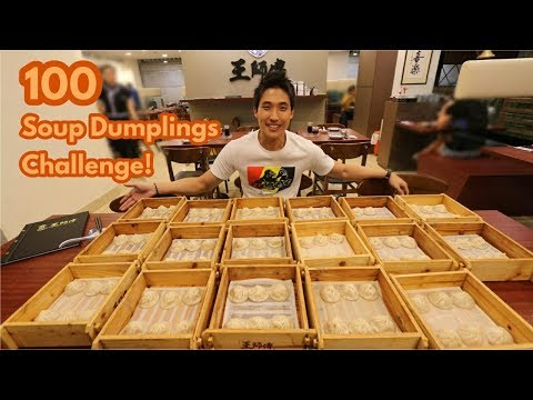 100 Soup Dumplings (Xiao Long Bao) Challenge!