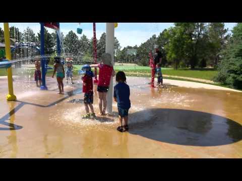Splash Pad Fun at Peterson Air Force Base