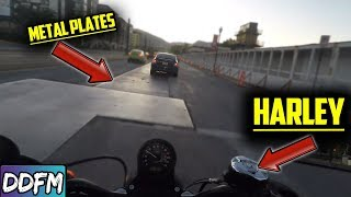 Harley Sportster Crashes In Construction Zone (What Happened?)
