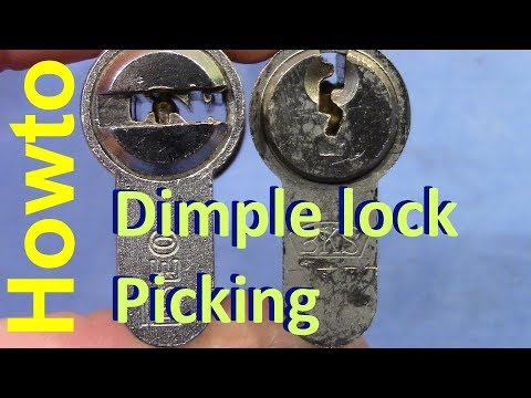 Взлом отмычками ISEO   (picking 377) Howto: dimple lock picking (a little tutorial) + ISEO 6 pin dimple picking/gutting