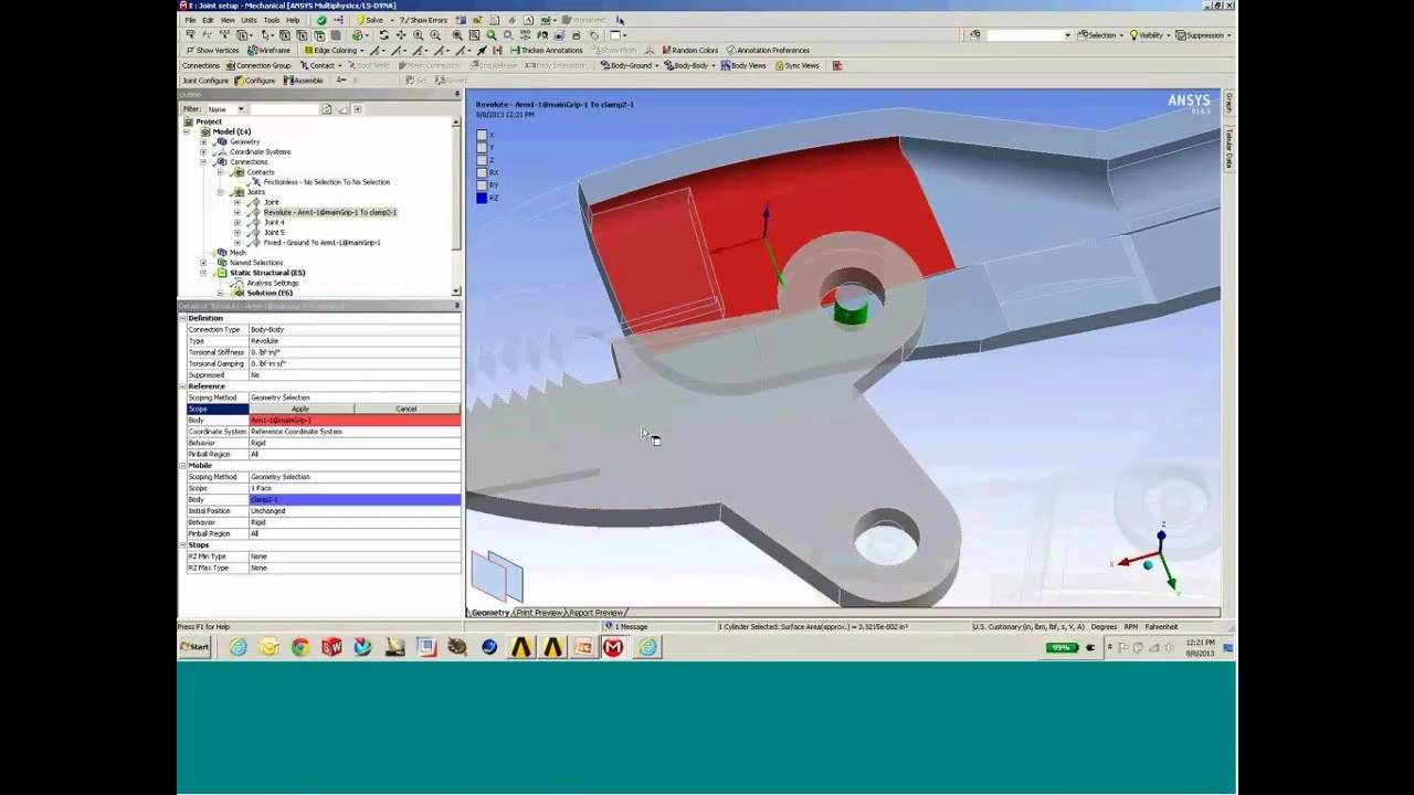 Working with Joints in ANSYS Mechanical - ANSYS e-Learning