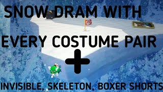 SNOW DRAM WITH EVERY COSTUME PAIR + INVIS & MORE