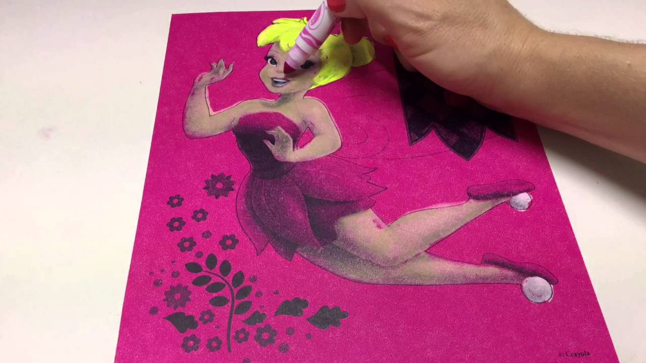 Let\'s Color DISNEY FAIRIES TINKERBELL Coloring In Crayola Color ...