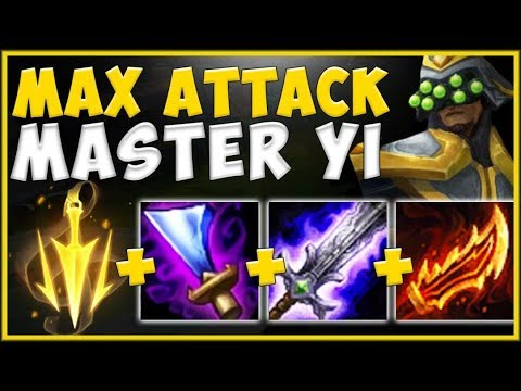 WTF! NO CHAMPION STANDS A CHANCE AGAINST MAX ATTACK YI BUILD! MASTER YI TOP S10! - League Of Legends