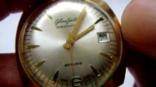 rare collectable glashutte gub spezimatic automatic vintage watch