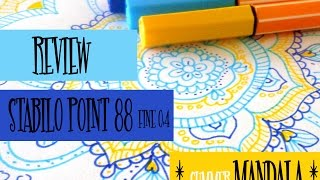 *How to draw a colorful mandala *Review Stabilo Point 88 Fine 0,4 Art Pen | M.J. In The Studio