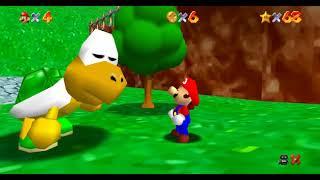 Super Mario 64 TAS Freerun in Ultrawide 4K 60 FPS