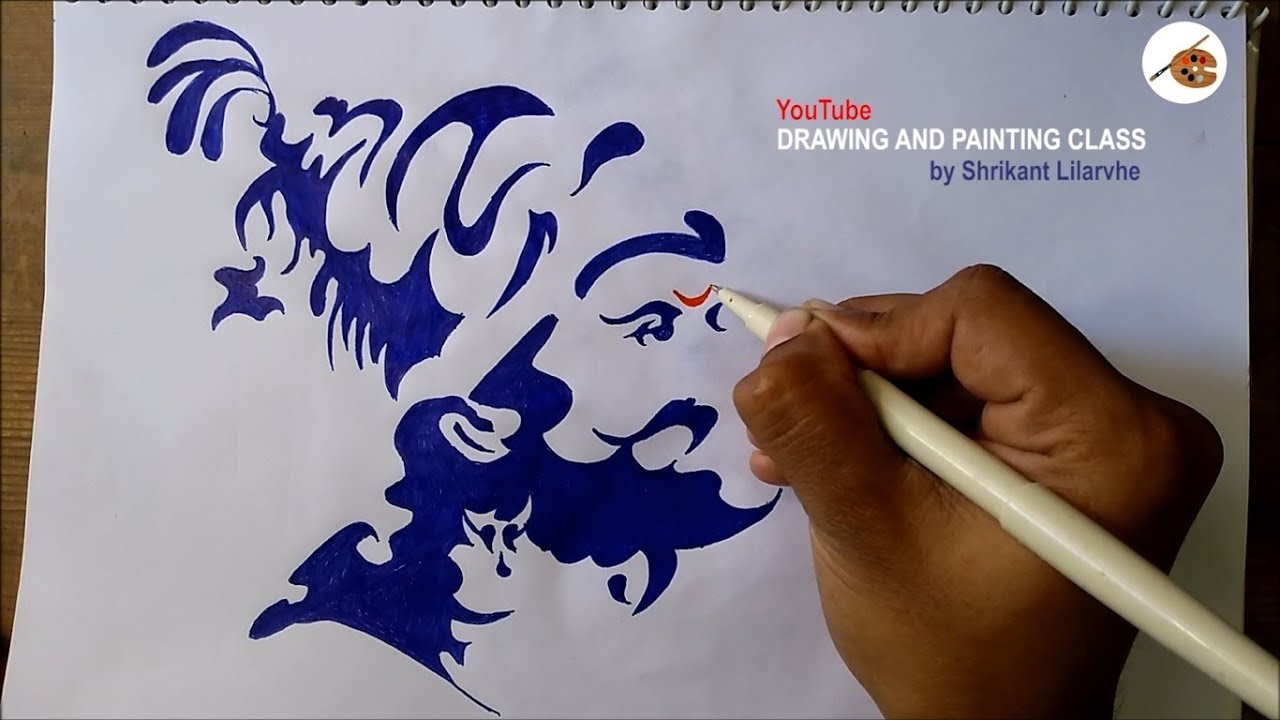How to draw shivaji maharaj shivaji maharaj sketch shivaji maharaj sketch 2018 drawing and painting