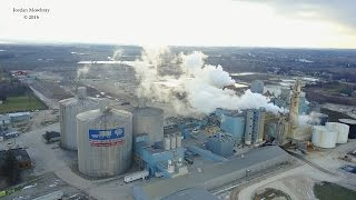 DJI Mavic Aerial Video of Michigan Pioneer Big Chief Sugar Beet Processing Plant