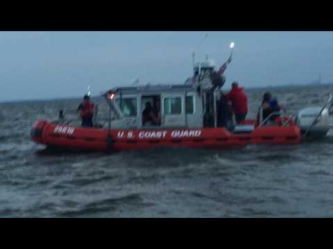 Boat sinking Lake Erie 6-17-17