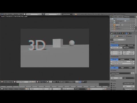 Stereoscopy In Blender New Tutorial