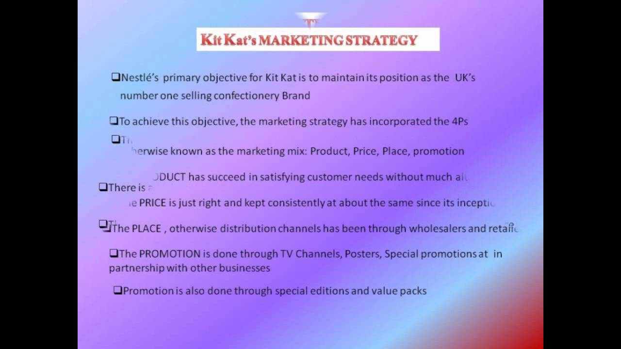 differential in positioning of kit kat How to develop brand positioning through advertising decisions  identification  and selection of right target audience choice of differential advantage prof   device the positioning for advertising of burger king / kitkat dark.