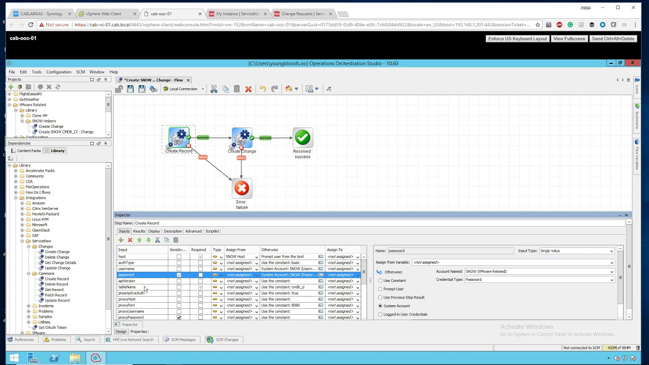 HP Operations Orchestration and ServiceNOW Integrations