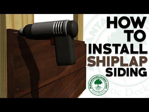 How To Install Shiplap Siding