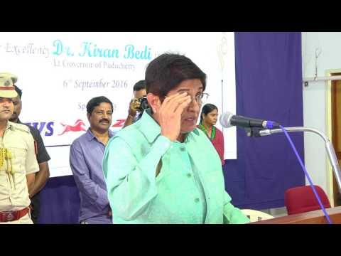 Hon'ble Lt. Governor, Dr.Kiran Bedi speech at Stella Maris College, Chennai.
