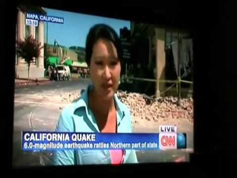 24/8/2014 - Napa, Calif., quake sends 120 to hospital, breaks water and gas lines