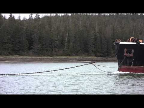 Barge in Wrangell Narrows