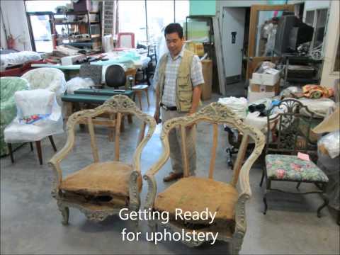 Antique Chair Upholstery by Joe's Upholstery Va.Beach,Va