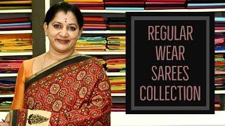 REGULAR WEAR SAREES COLLECTION||GAYATHRI REDDY #gayathri#regular#office#wear#sarees#collection