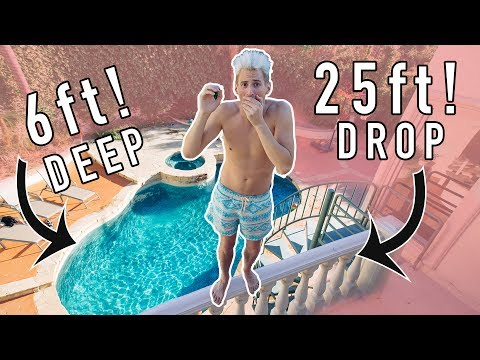 Thumbnail: MY FRIENDS TOLD ME NOT TO DO IT! 25 ft JUMP into 6ft POOL!