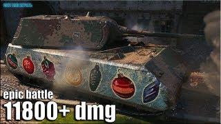 12к урона МЕГА ЭПИК бой Maus World of Tanks