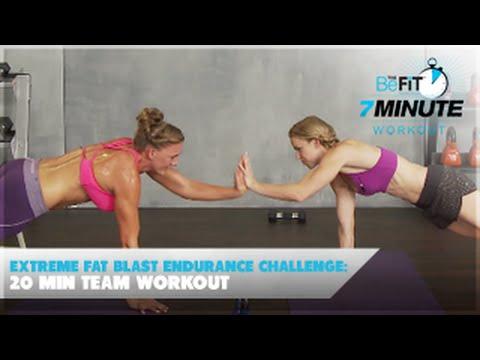 Extreme Fat Blast Endurance Challenge: 20 Min Team Workout