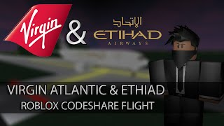 Virgin Atlanic et Etihad Codeshare Flight! Roblox - France