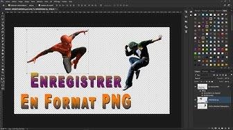Enregistré une image en Format PNG avec fond transparent