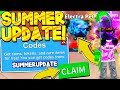 4 SECRET SUMMER UPDATE CODES IN MINING SIMULATOR! Roblox