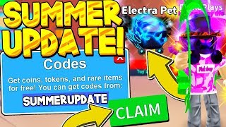 4 SECRET SUMMER UPDATE CODES IN MINING SIMULATOR! Roblox