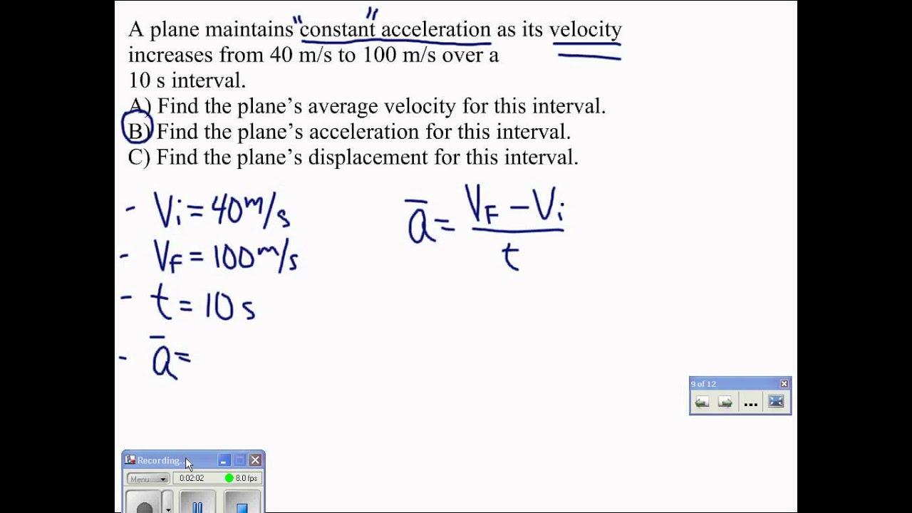 07 Average Acceleration Problem YouTube