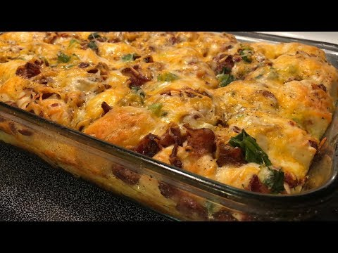 Breakfast Casserole - Biscuits Bacon Sausage | Southern Sassy Mama