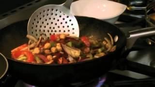 Chickpea Stir Fry And Cucumber Raita