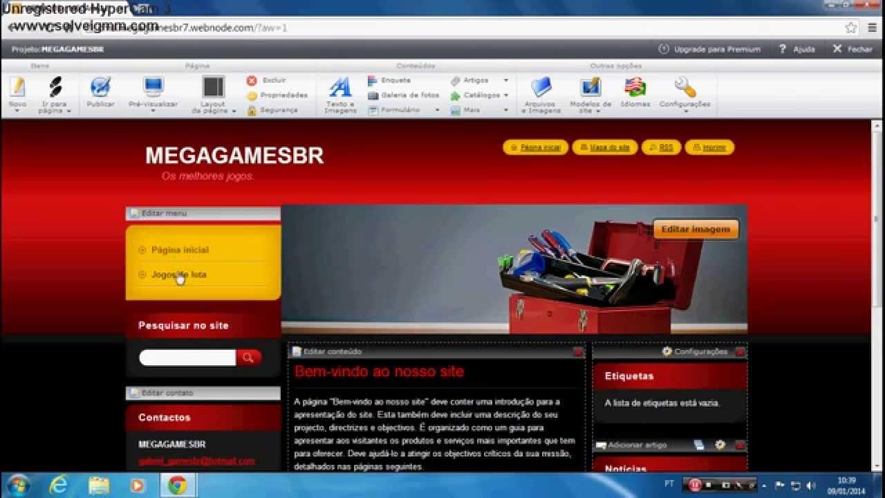 5aec5ad638 Como criar um site de jogos pelo (Webnode) - YouTube