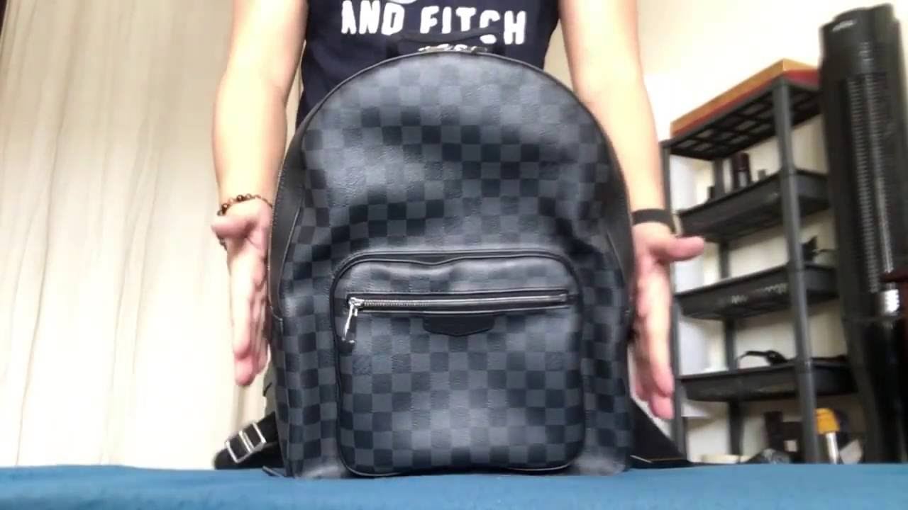 c28724f27a81 Louis Vuitton Josh Damier Graphite Backpack - YouTube