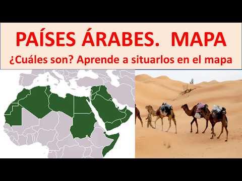 Países árabes Mapa