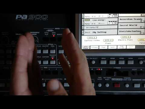 Ritmos playback Korg PA900 e Reproduzir MP3