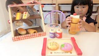 わがままなお客さん?マザーガーデンのおもちゃでパン屋さんごっこお店屋さんごっこ