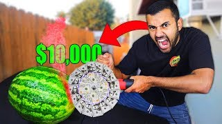 We Built DANGEROUS DIY Saw Blades Using Random Objects..$10,000!! (WE CUT OPEN A SAFE!)