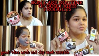 Skin care routine of good vibes products {purple.com} Shagufta Khan Glamour Artistry