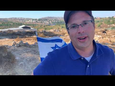 """Avi Abelow at Site of 19-year-old's Murder: """"Stand Strong for Israel!"""""""