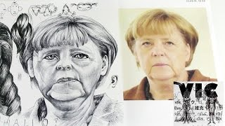 Characteristics of a Female Face Part II/ How to draw a Portrait and Angela Merkel(Welcome to my second video drawing lesson